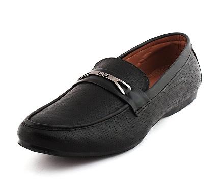 Vestrico Men's Black Loafer Shoe