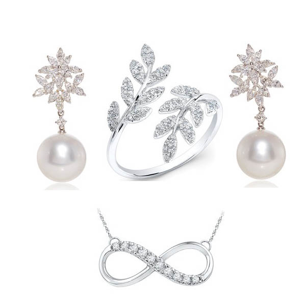 White gold jewellery designs