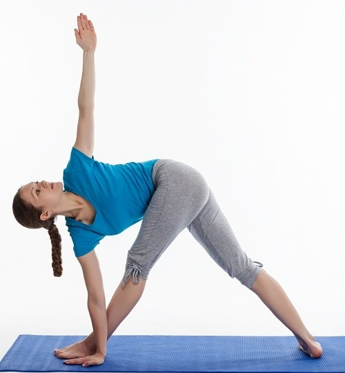 Parivrtta Trikonasana to grow tall