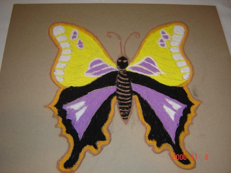 butterfly rangoli designs
