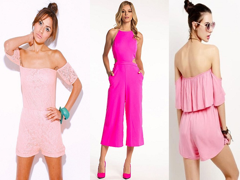 pink jumpsuits