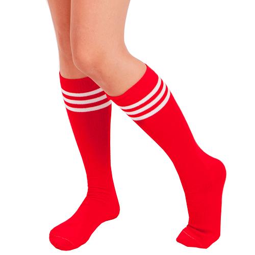Red Tube Socks