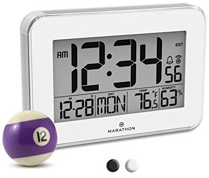 White and Black Shaded Designer Clock