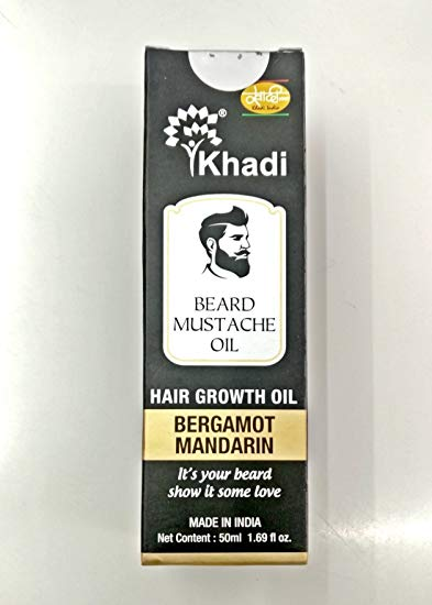 Khadi Beard Growth Oil Bergamot Mandrain