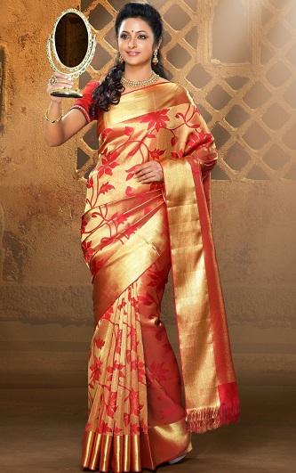 b6672ecdb495 No South Indian wedding is complete without the opulence of a silk saree.  Traditional silk sarees are indispensable to most rituals as they are  considered ...