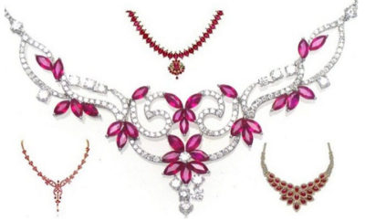 Ruby Necklace Jewellery Designs