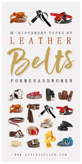 Types of leather belts