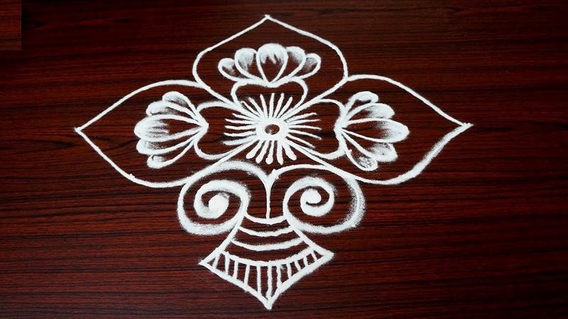 7 Dots Rangoli Pulli Kolam Designs