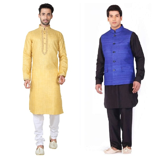 Bengali Kurta Pajamas for Men in Wedding
