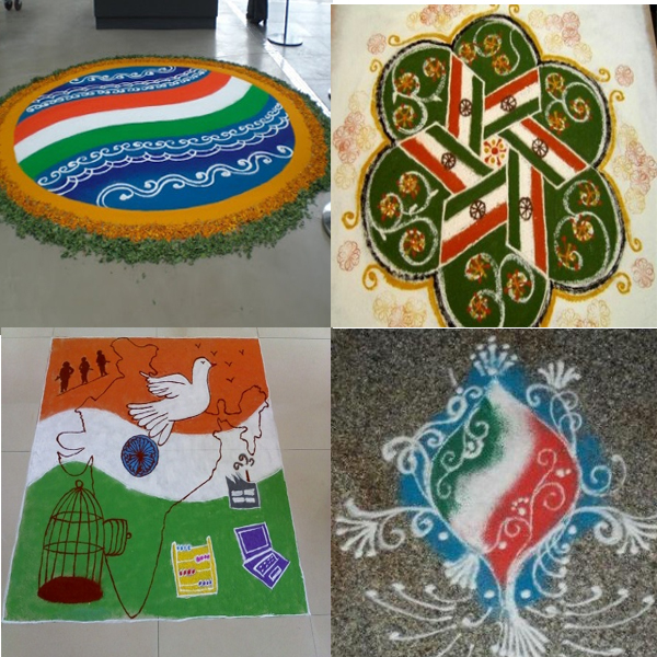 Best Indian Flag Rangoli Designs for 73rd Independence Day