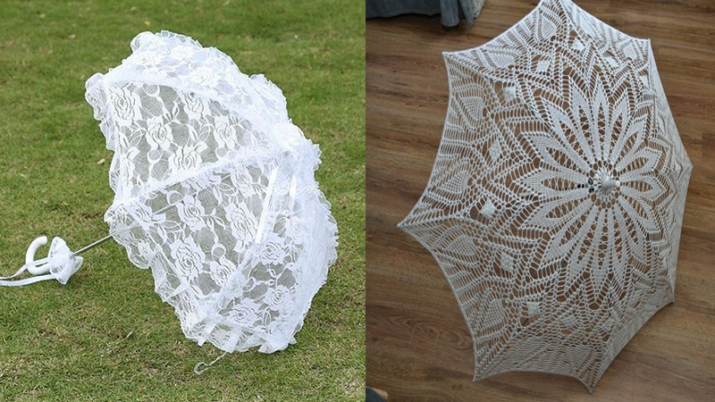Best Looking White Colour Umbrellas in Different Sizes