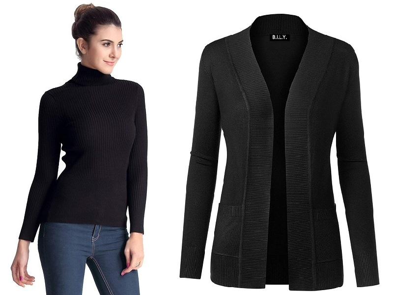 Black Sweaters For Women And Men In India