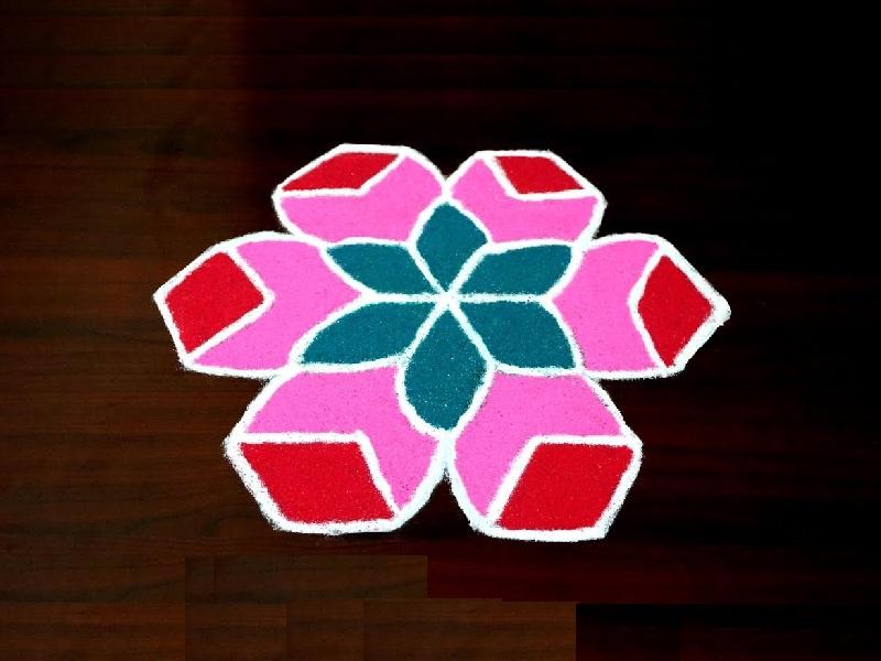 Latest 4 Dots RangoliPulli Kolam Designs