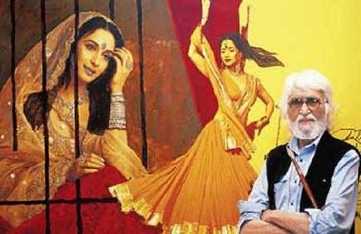 mf-hussain Madhuri Dixit Painting