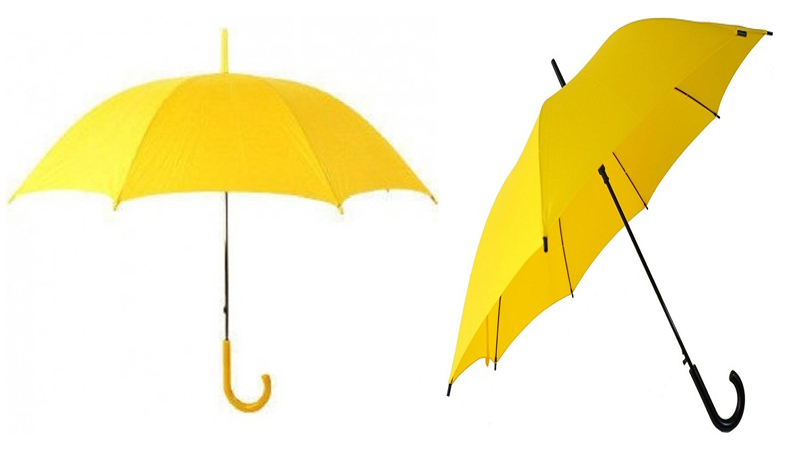 Mesmerizing Yellow Umbrellas for Avoid UV Rays & Rain