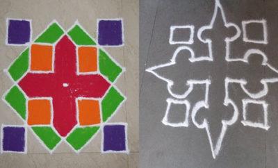 Simple And Creative Pulli Kolam Rangoli Designs With 6 Dots