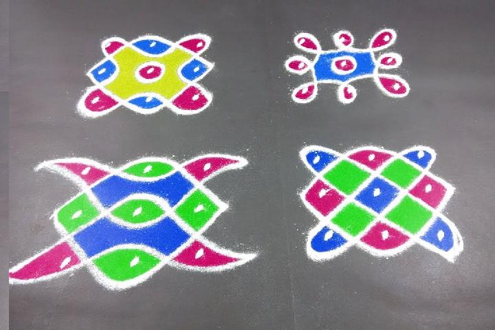 5 Special 3 Dots Rangoli Pulli Kolam Designs Styles At Life
