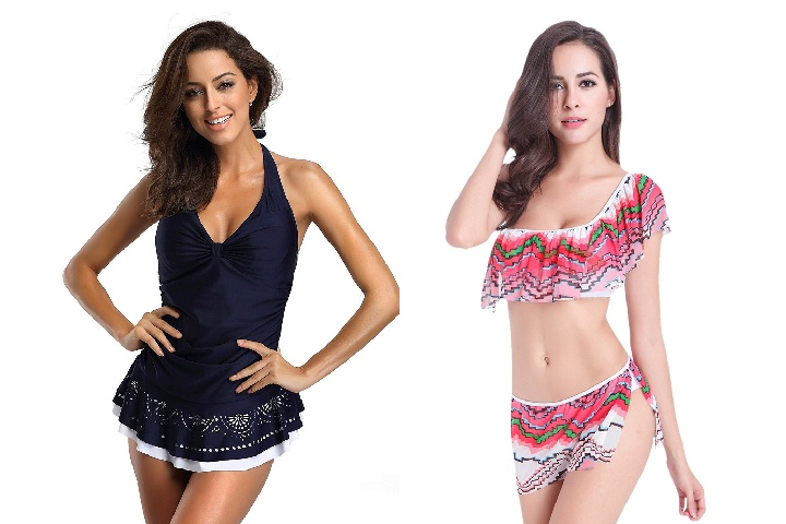 Stylish Skirted Swimsuits For Women