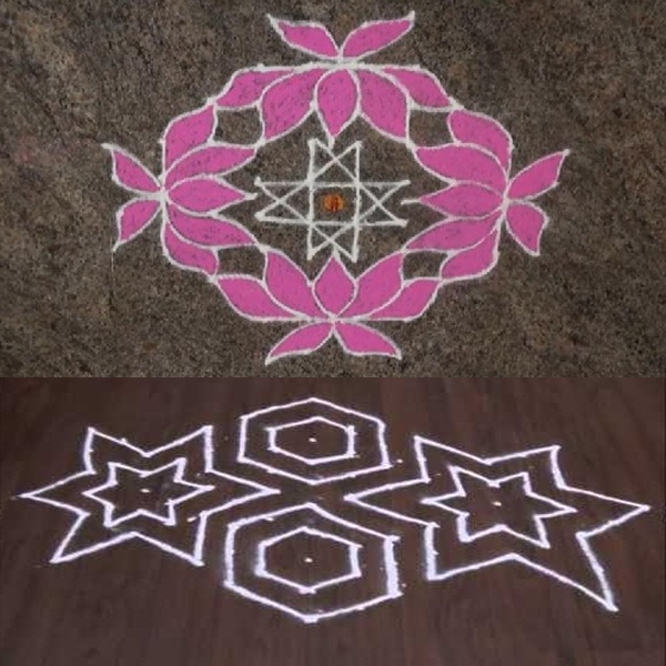 10 Dots Rangoli Designs
