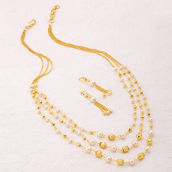 15 Traditional Gold Pearls Jewelry Designs for Women | Styles At Life