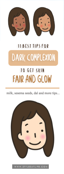 HOW TO GET GLOWING FAIR SKIN FROM DARK COMPLEXION