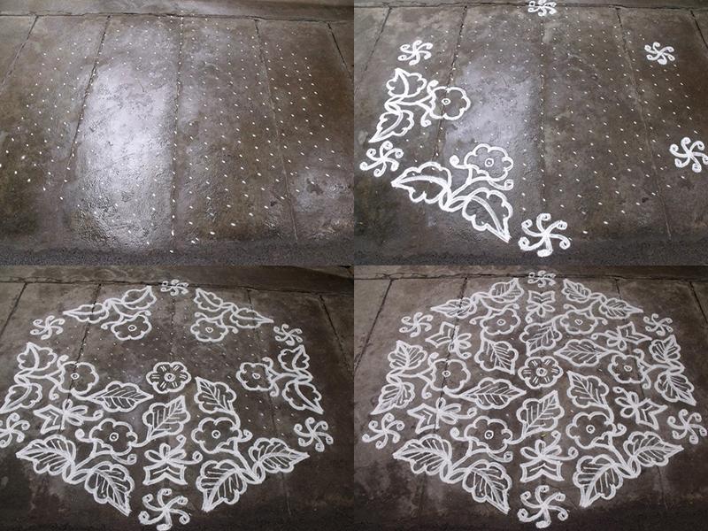 21 Dots Rangoli Designs