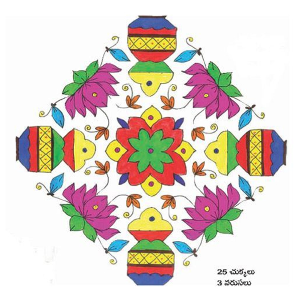 Dotted Rangoli Designs with Pictures
