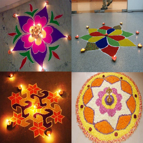 Adorable Small Size Rangoli Designs That are Easy to Draw