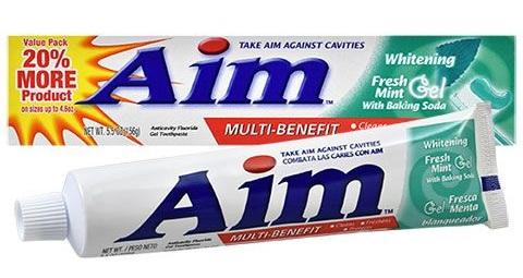 Aim Fresh Mint Whitening Gel Toothpaste with Baking Soda