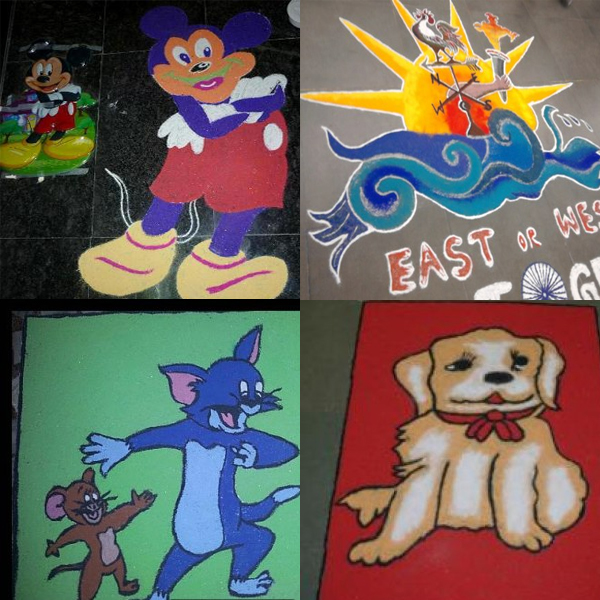 All Time Favourite Cartoon Rangoli Designs with Pictures