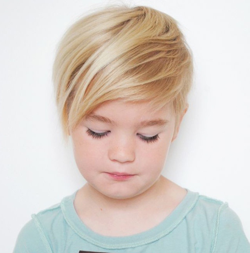 Asymmetric Long Pixie Style Haircut