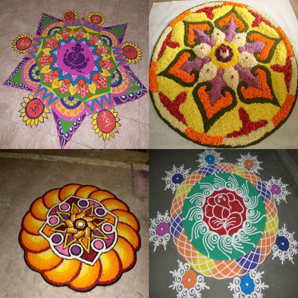 Attractive Kerala Rangoli Designs with Pictures