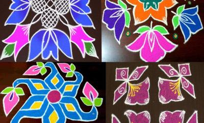 8 Dots Rangoli Designs
