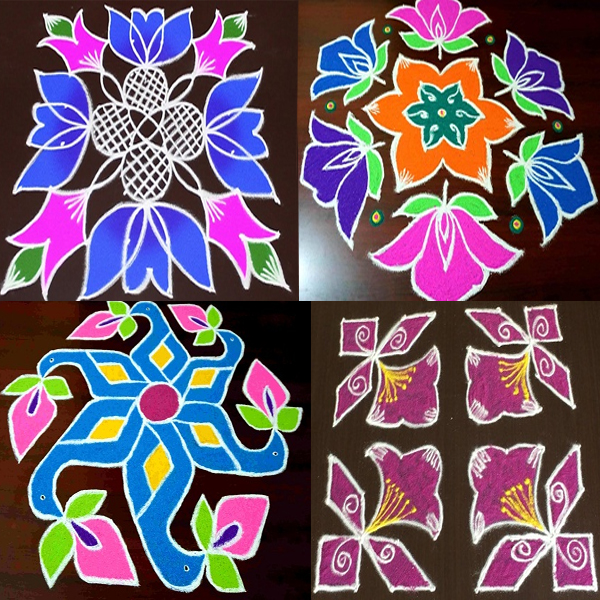 8 Dots Rangoli Designs