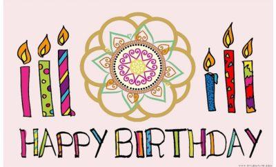 Rangoli Designs for Birthday