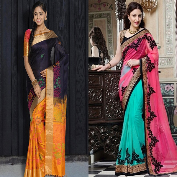 Best Half And Half Sarees In Various Combinations