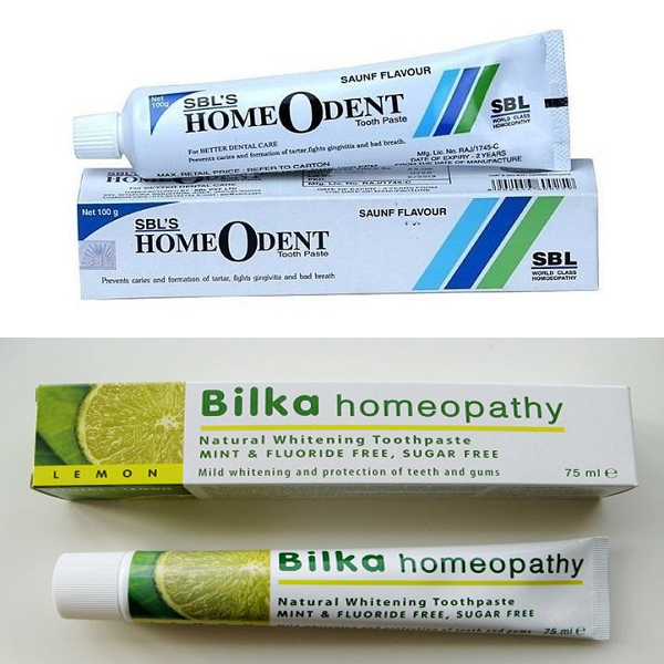 Homeopathic Toothpastes