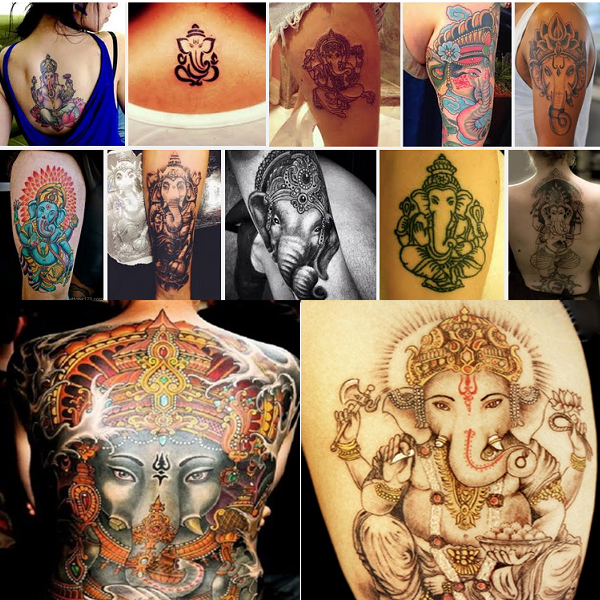 Best Lord Ganesha Tattoo Designs For Men and Women