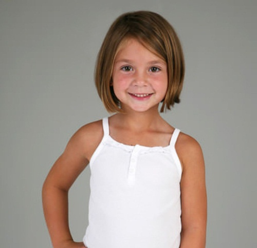 Chic Bob Haircut for Little Girls