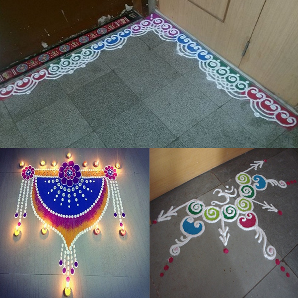 9 Pretty Door Rangoli Designs For Home