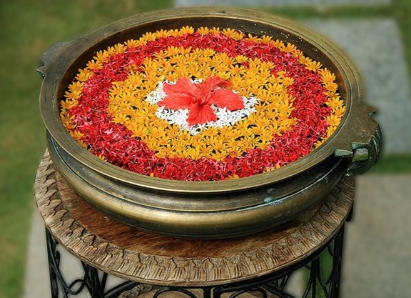 modern rangoli designs with flowers