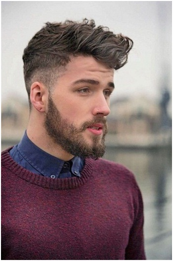 The New Side Cut Hairstyles for Men with Beard