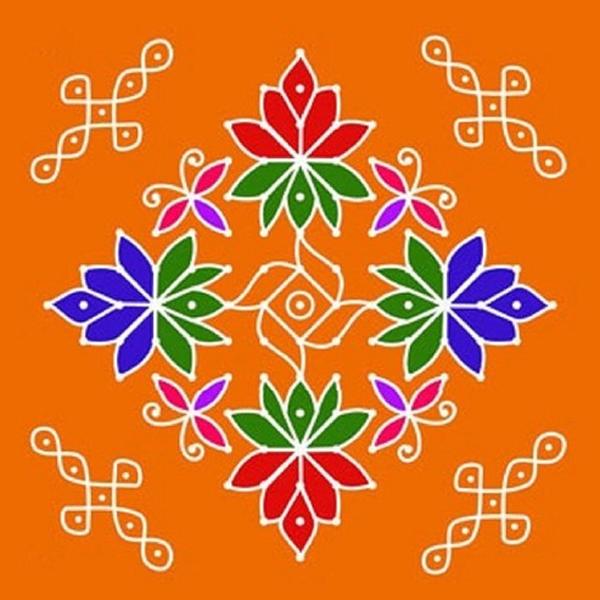 Hindu Rangoli Designs