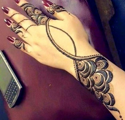 Latest Rose Mehandi Designs