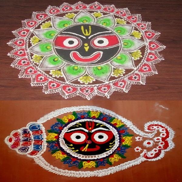 Jagannath Rangoli Designs