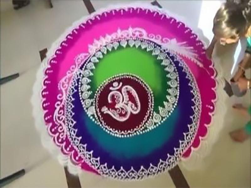 OM Rangoli Designs