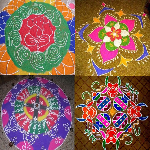 Telugu Art Rangoli Designs
