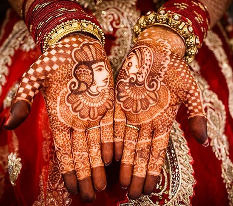 Bride And Groom Latest Mehendi Design