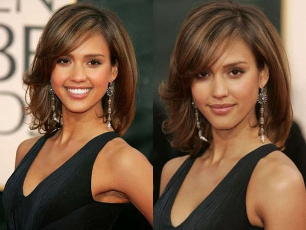 The Flattering Brow Hair Look for Heart Shaped Faces