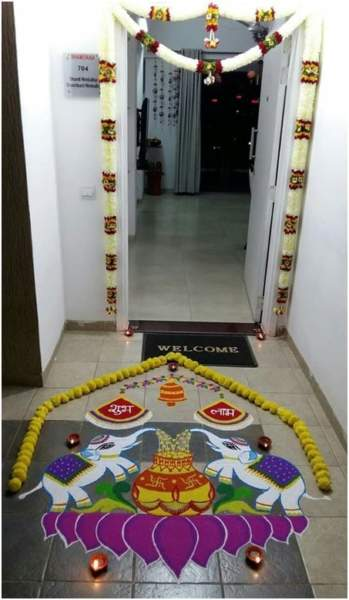 Dhana Lakshmi Rangoli for Diwali